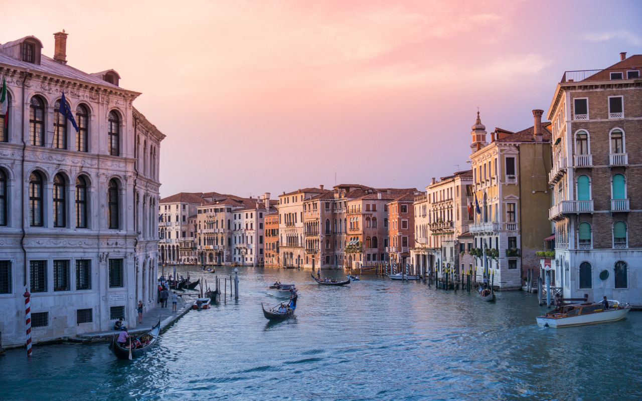 Sunset in The Floating City, Venice